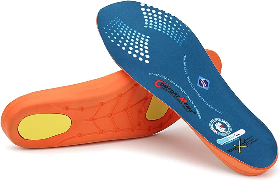 ROCKROOSTER Arch Support Insoles for Men and Women Shoe Inserts, Work & Hiking Boots Insoles, Comfort, PoronXRD, RC920
