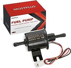MOSTPLUS Universal Low Pressure Gas Diesel Inline Metal Solid Petrol 12V Heavy Duty Electric Fuel Pump for Motorcycle Carburetor ATV HEP-02A