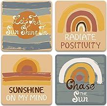 "CoasterStone AS450 Drink Coasters, 4.25"", Sunshine"