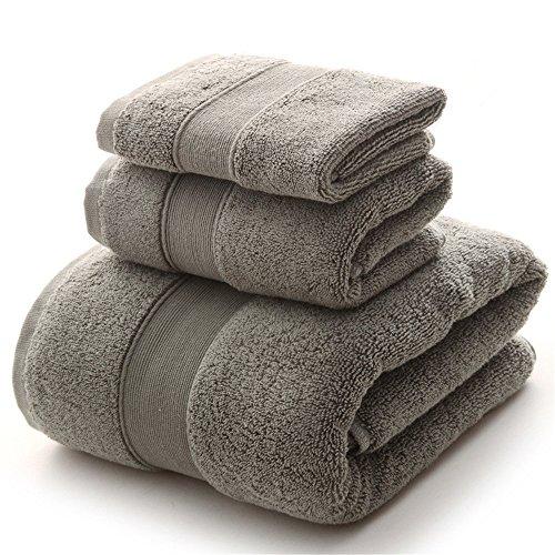 YIH Juego de toallas de baño Clearance 900 GSM Premium 6 piezas Sábanas de baño Gris, Hotel Spa de lujo 100% algodón, 2 toallas de baño, 2 toallas de mano y 2 paños ✅