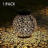 Tomshine Solar Laterne Dekorative Metall Hängende LED-Leuchten IP44 Wasserdicht für Patio...