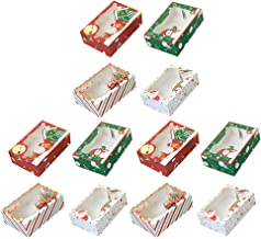 BESPORTBLE 12pcs Cookie Boxes Cupcake Wrapping Case Boxes Visible Biscuit Box Christmas Bakery Gift Boxes Christmas Party ...