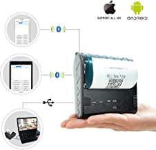 ZKTeco Mini Wireless Bluetooth Printer/Thermal Receipt Printer/Portable Personal Printer,80mm Pocket Mobile POS Compatible with Android & iOS & Windows & Linux Systems and ESC/POS/Star Print.