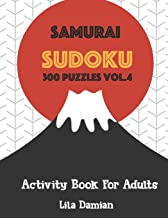Samurai Sudoku 300 Puzzles Vol.4: Activity Book For Adults (Sudoku Puzzle Books For Adults)