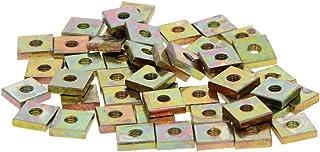MroMax 100pcs Yellow Zinc Plated Square Machine Screw Nuts Fastener M5x8x3mm