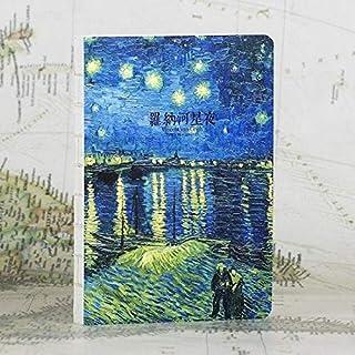 دفاتر الملاحظات - 220 صفحة من سلسلة لوحات الزيت لفان جوخ دفتر يوميات كتاب رسم هدية الكريسماس (C)