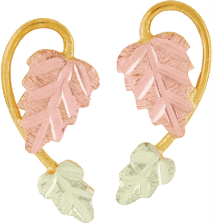 Black Hills Gold Leaf Earrings