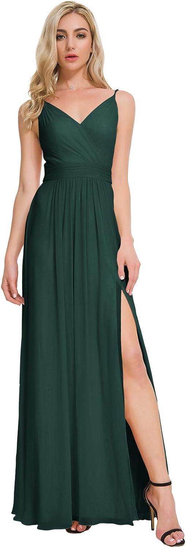 ALICEPUB V-Neck Bridesmaid Dresses Bargain sale for New color Long Formal Women Chiffon