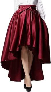Best burgundy high low skirt Reviews