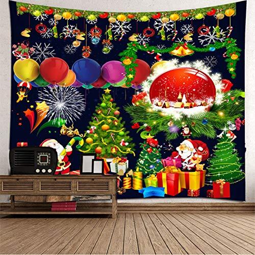 Tapiz de Navidad para colgar en la pared, colcha de mesa, tapiz de Navidad para dormitorio 337 x 250 cm