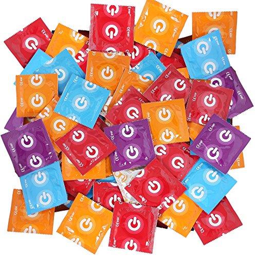 ON) Kondome - 7 Sorten Topmix - 7 verschiedene Kondome für große Abwechslung im Liebesleben - 100 Stück (2x50er)