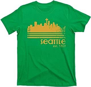 City of Seattle Washington Supersonics west Coast Liberal Urban map Tee T Shirt