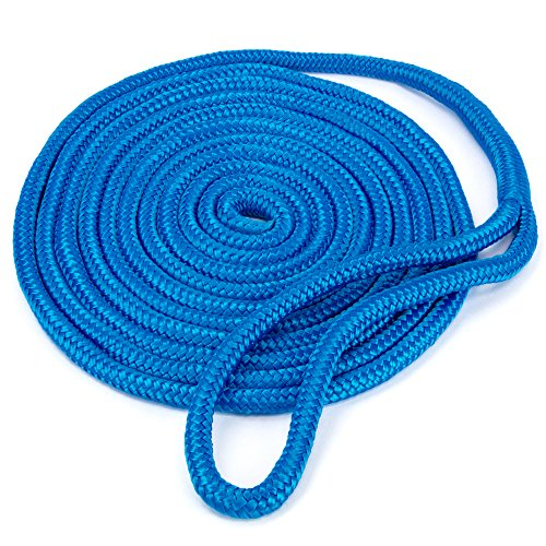 Crown Sporting Goods Blue 15' Double-Braided 3/8