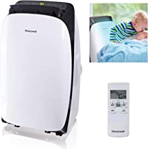 Honeywell HL12CESWK Contempo Series Portable Air Conditioner, Dehumidifier & Fan with Dual Filtration System, 12,000 BTU, Black/White