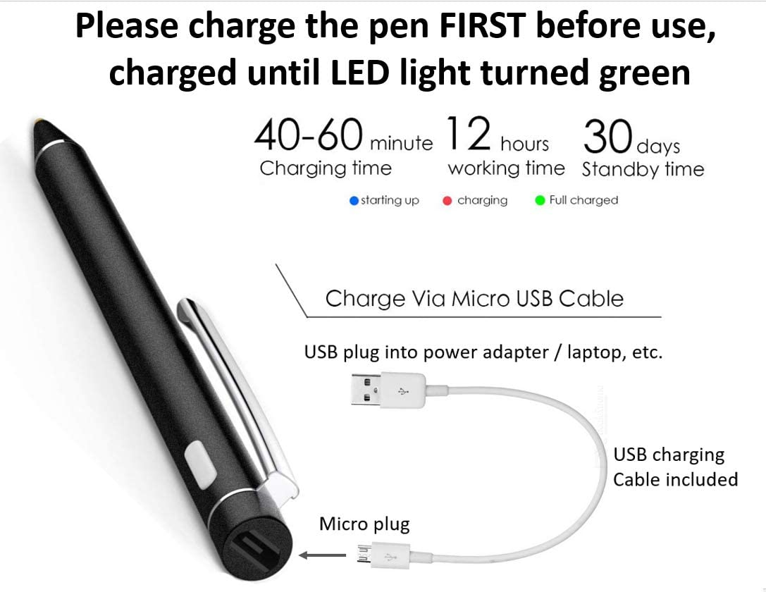 Active Stylus Touch Screen Drawing Writing Pen for Lenovo Yoga 730 720 Mix Miix 720 510 Flex 6 5 2 in 1 Laptop Replacement ( NOT for Window Ink )