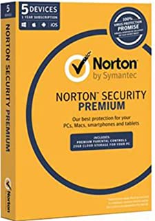 Norton Security Premium 3.0 OEM (25GB, 5-Device, 1 Year)