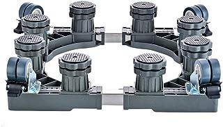 Beauenty Home Base, Removable Adjustable Base, 8-Feet+8 Rounds Swivel Lock Wheel for Washing Machine Dryer Refrigerator Ai...