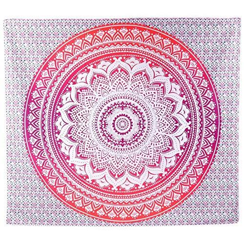 KHKJ India Mandala Tapiz Colgante de Pared decoración Boho tapices de Tela de Pared psicodélico Hippie Noche Luna Tapiz A16 150x130cm