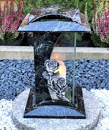Garten Paradies Handmade Grablampe Kerze Bild