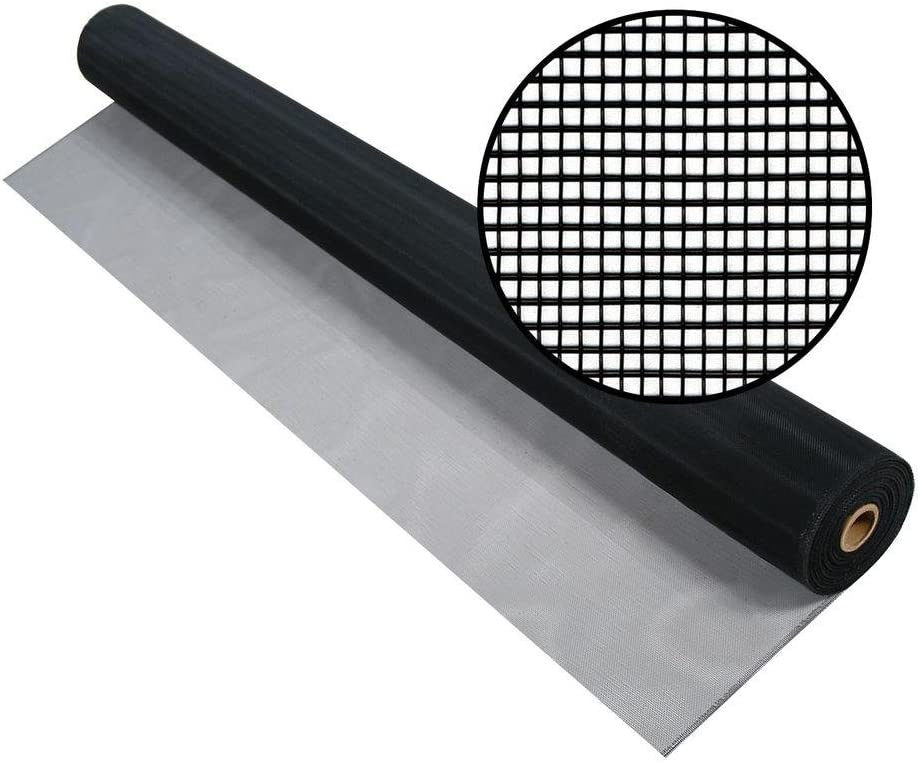 Aluminum Insect Screen 72 x 100ft Roll Black