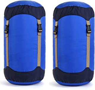 Borogo Compression Stuff Sack, 35L Lightweight Sleeping Bag Compression Sack Great for Sleeping Bags Clothes, Backpacking, Hiking and Camping (2-Pack)