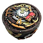 Gifts & Decor Round Steampunk Gearwork Time Waits for No Man Jewelry Box Trinket Figurine 5