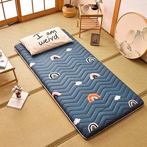 Schlafende Tatami-Bodenmatte Faltbare Futon-Tatami-Matratze Weiche, Verdickte Schlafmatte Aufrollbare Japanische Studentenwohnheimmatratzen,D-80x200cm(31.49xx78.74 in)