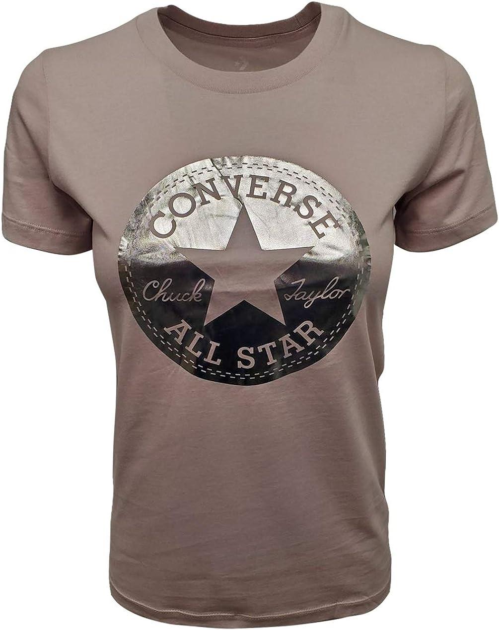 Converse Women's Metallic Chuck Patch Crewneck T-Shirt