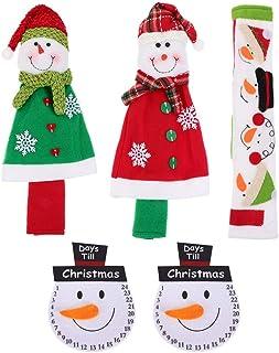 PIXNOR 5 Unidades de Tampa de Maçaneta de Porta de Geladeira de Natal Alça de Micro-Ondas Com Padrão de Boneco de Neve Tam...