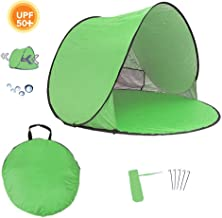 Homboon Automatic Beach Tent, Pop-up Instant Sun Shelter Portable Cabana with Carry Bag Outdoor Anti-Uv Canopy Lightweight Foldable Shade Tent for Camping Fishing Hiking Picnic,59×59×35.4