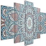 murando - Cuadro en Lienzo Mandala 200x100 cm Impresión de 5 Piezas Material Tejido no Tejido Impresión Artística Imagen Gráfica Decoracion de Pared Oriente f-A-0671-b-m