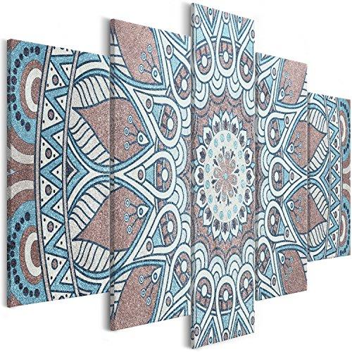 murando Cuadro en Lienzo Mandala 200x100 cm Impresión de 5 Piezas Material Tejido no Tejido Impresión Artística Imagen Gráfica Decoracion de Pared Oriente f-A-0671-b-m