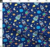 Weltraum, Raketen, Ausländer, Ufo, Mond, Planeten Stoffe -