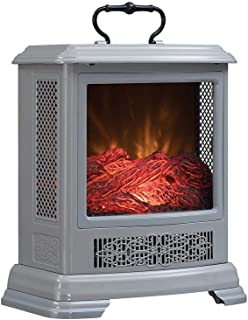 Duraflame Electric DFS-7515-05 Fireplace Stove Heater, Cool Grey