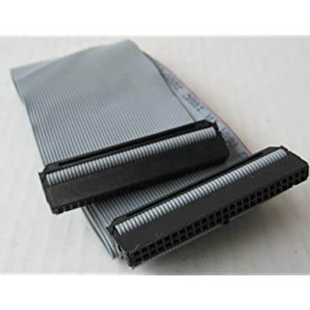 24 inch 3 Connector 50-pin SCSI Internal Flat Ribbon Cable - Terminator and Resistor NOT Included