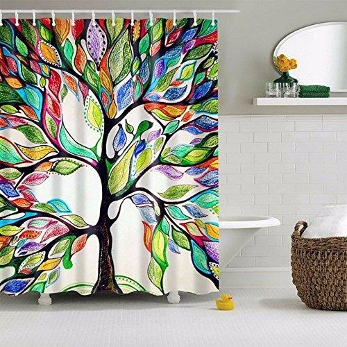 Violetpos Baum des Lebens Bunte Baum Duschvorhang Badezimmer Dekorative 160 x 180 cm