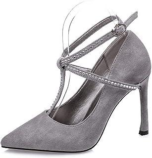 Ying-xinguang Shoes Fashion Versatile Sexy Single Shoes Stiletto Rhinestone Women's Shoes Women's High-Heeled Comfortable