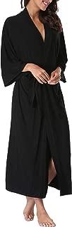 WitBuy Women's Cotton Kimono Robes Soft Modal Knit Bathrobe Nightgowns Long Lightweight