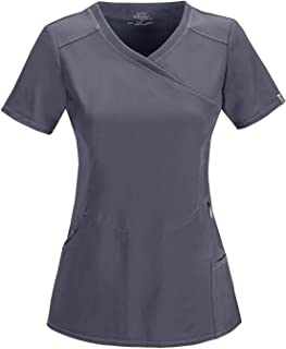 Cherokee Women's Infinity Mock Wrap Scrubs Shirt