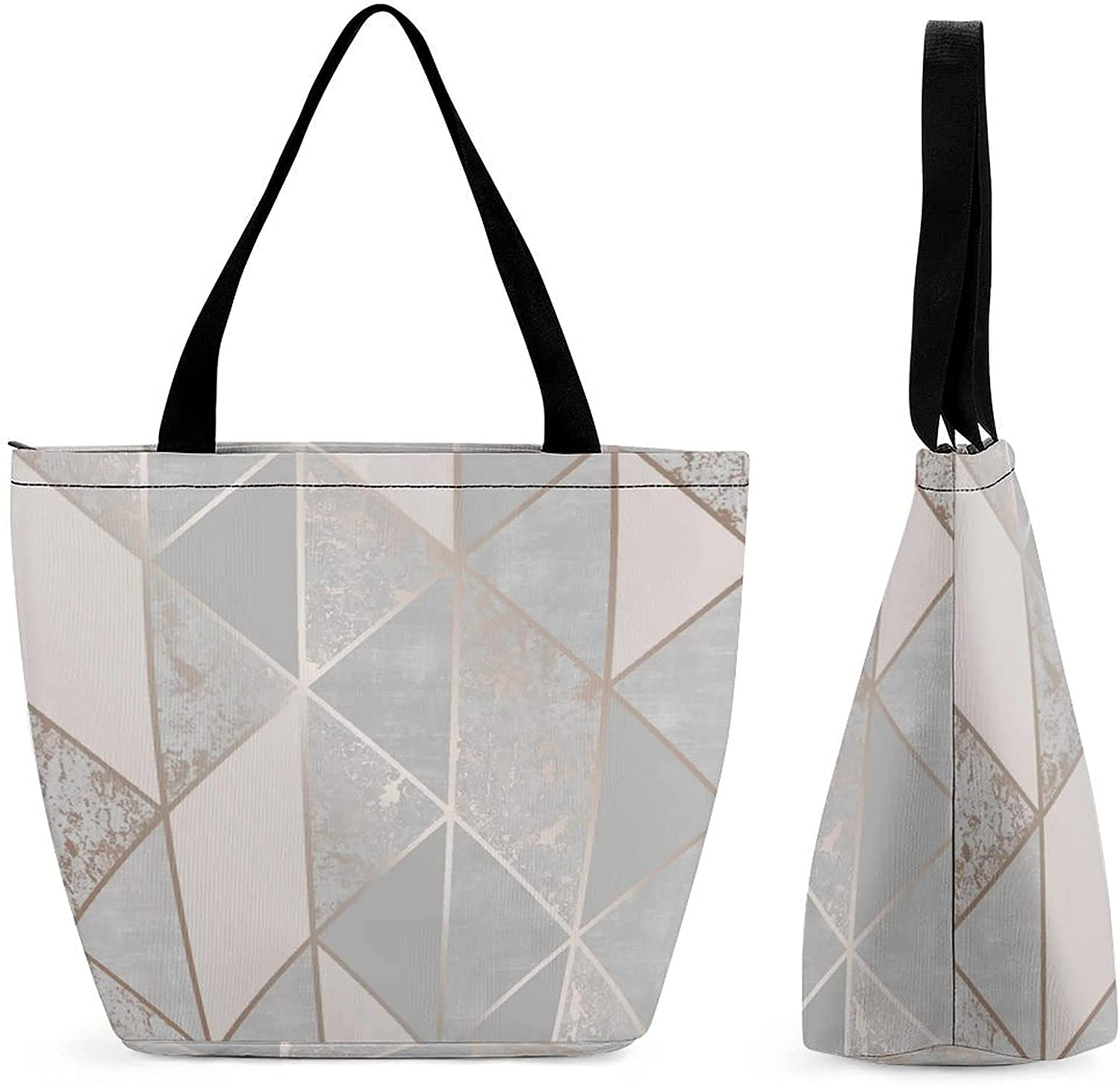 Outstanding Rose Gold Blown Max 69% OFF Marble Womens' Bag Capacity Large Tote Reusable