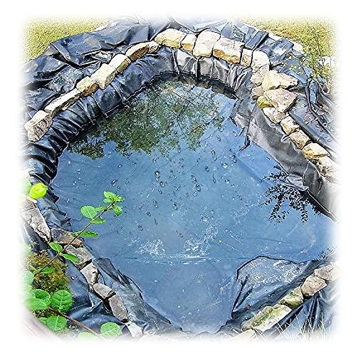 Yibcn Robuste Teichfolie 0.2mm, 1x6m 2x3m 4x5m 5x9m Teichfolien Hochleistungs-Fischteich-Schwimmteich Folie, Garten Teichplane
