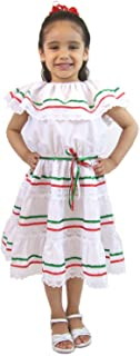Girls Mexican Dress 3 Ribbons