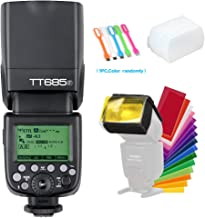 Godox TT685F TTL 2.4G GN60 High-Speed Sync 1/8000S 0.1-2.6 Seconds Recycle Time,230 Full Power Flashes Flash Speedlite Light Compatible for Fujifilm Camera with Diffuser & Filter & USB LED