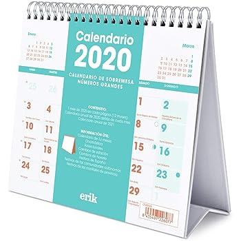 ERIK - Calendario Escritorio Deluxe 2020 Genérico (17x20 cm ...