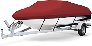 7 oz Solution Dyed Polyester RED, Styled to FIT Boat Cover for BAYLINER 195 Classic RUNABOUT 2004-2005