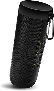 MentonEzil Bluetooth ポータブルスピーカー IPX5防水 優れたサウンド 強化された低音 フラッシュライト TFカード FMラジオ 内蔵マイク 屋外パーティー ワイヤレススピーカー (ブラック)
