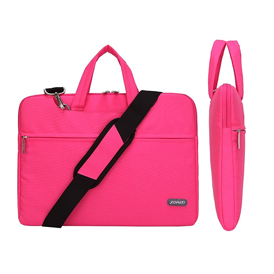 Waterproof laptop case,Animov Multi-functional Laptop Shoulder Bag Briefcase Carry Case for 15-15.6 inch Laptop Notebook MacBook Pro/Pro Retina Display Chromebook with Handle and Pockets - Rose