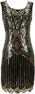 Sequin Beaded Short 20's Flapper Themed Event Reproduction Style Dress