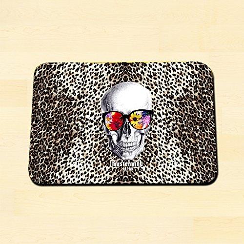 KOOCO Hip-hop Street Style Squelette Imprimé léopard Tapis 40 x 60 cm Home Tapis Salon/Chambre à Coucher/Couloir Tapis de Salle de Bain antidérapant Tapis, Acrylique, 3, 500x800mm