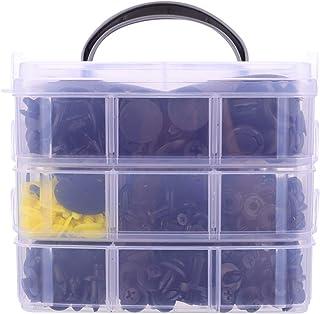 Garneck 650 peças de clipes de retentor de carro, kit de fixadores de plástico, rebites, suprimento de rebites de carro, a...
